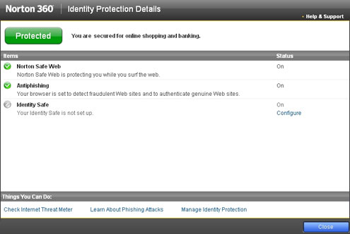 Norton Antivirus Screenshot 1