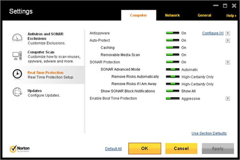 Norton Antivirus Screenshot 2